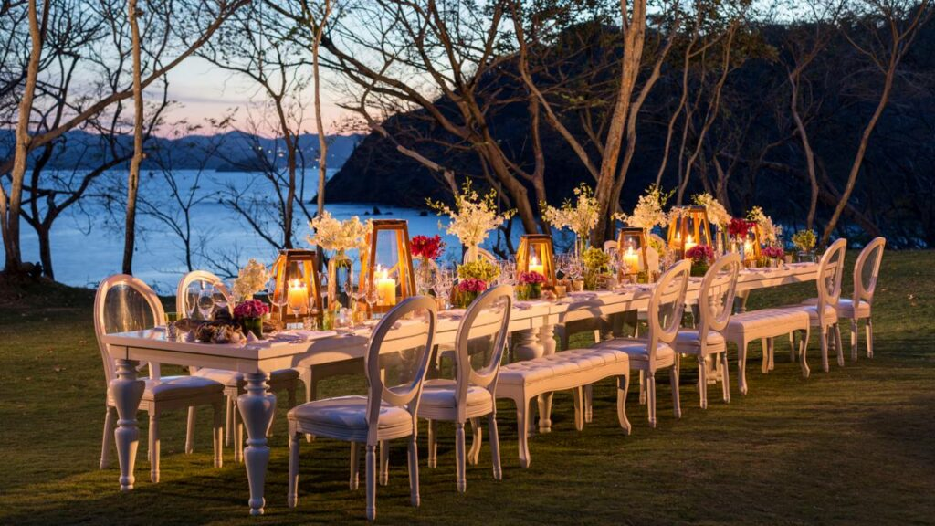 Four Seasons Resort Dinner Party Setting